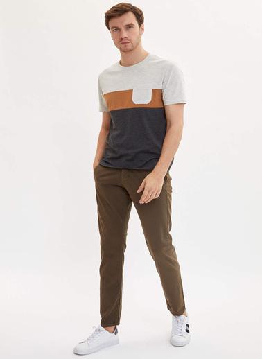 DeFacto Slim Fit Basic Pantolon Haki
